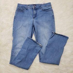 NYDJ Sz 12 Lift Tuck Straight Leg Jeans